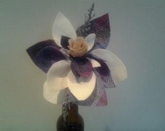 Harris tweed flower