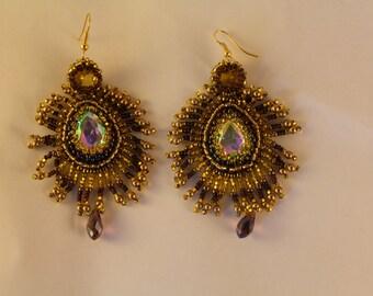 """Earring """"Peacock's eye"""""""