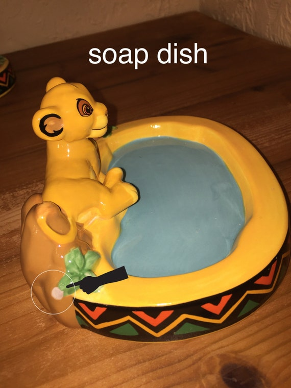 Disney s Lion King Bathroom Set Simba Toothbrush holder  soap dispenser   soap dish. Disney s Lion King Bathroom Set Simba Toothbrush holder