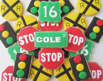 Road Sign Cookies Assorted