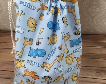 Drawstring Bag for Boys with cute animal print