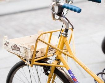 Paris Photography, The Yellow Bicycle, Paris Print, Home Decor, Paris Living Room Decor, Yellow wall art, House Warming Gift