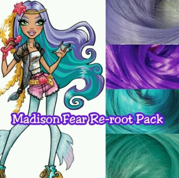 Monster High Madison Fear Singer Custom Doll Nylon Hair Color Blend Kit Create Reroot your Own OOAK Monster High Doll