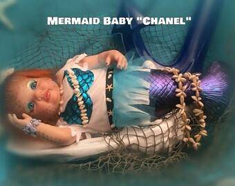 Reborn Baby Mermaid Chanel ~ OOAK ~ UPDATED LISTING 05/19/2017