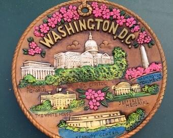 Vintage Washington D.C. souvenir plate