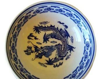 "4"" Blue Dragon Dish"