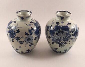 Regina Delfts Blauw Vases from Holland