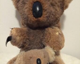 1950s mama and baby koala bear made of kangaroo fur
