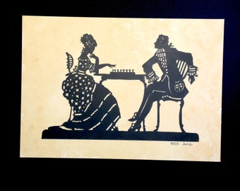 papercut - chess players