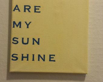 Sunshine quote canvas
