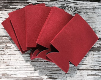 25 Blank Crimson Beverage Insulators   Can Coolies   FREE SHIPPING
