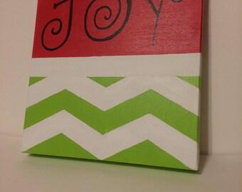 Joy Christmas Canvas
