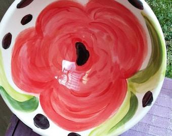 Summer Rosette Snack Bowl