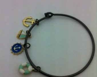 charm bracelet with colorful ocean charms