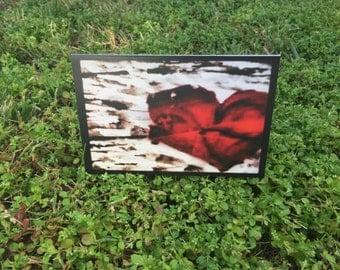 The Rose Heart Blank Notecard