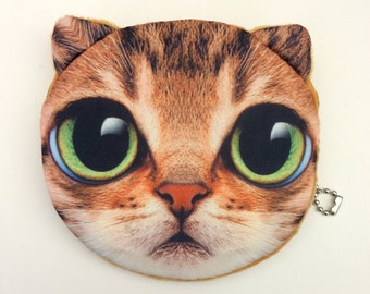 Orange Tabby Cat Zipper Pouch