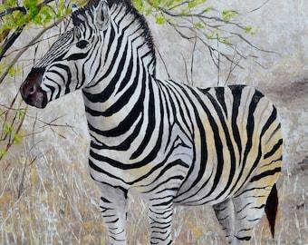 """Zebra painting 24""""x 30"""""""