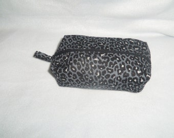 Leopard print Zippered Cosmetic Bag