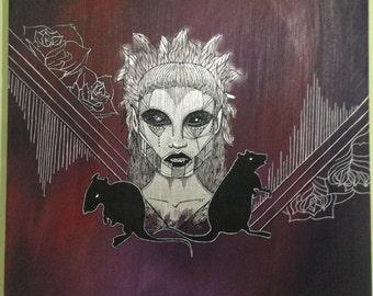YoLandi portrait, painting