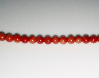 Bamboo coral beads 3mm round beads 3mm stone beads red stone beads semiprecious stone semiprecious beads coral red coral