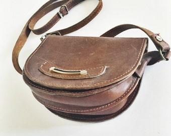 Little Brown Leather Crossbody Purse