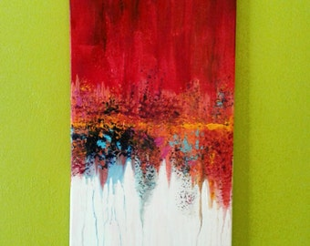 Original Abstract Texture Red multicolored fluid