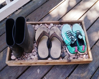 Boot Tray/ Shoe Tray/ Rustic Boot Tray