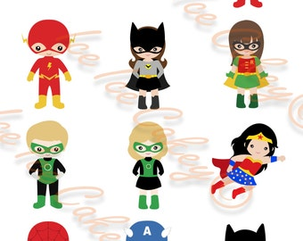 Superhero Cupcake Toppers - Version 2