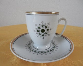Vintage Cup and saucer of Mosa Maastricht Holland
