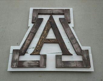 Officially Licensed -University of Arizona A | University of Arizona | Wildcats | UofA | Arizona | Pallet Sign | Wood Sign