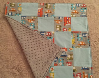 Minky Car Baby Quilt
