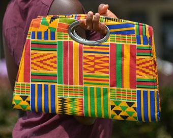 African print hand bag, African print hand purse