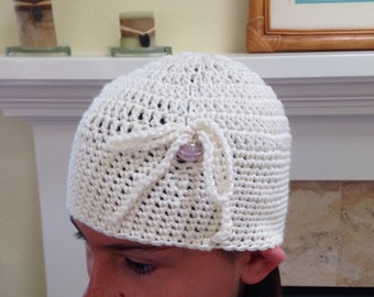 Beanie Child Size With Bow