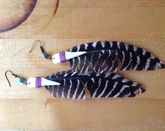 Bird Dance Feather Earrings