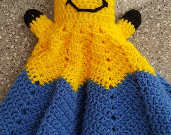 Minion Cuddle Baby Blanket, Baby Ripple Blanket, Baby Security Blanket