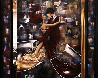 surreal wine painting
