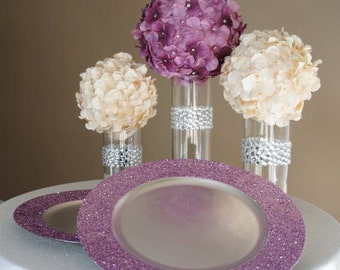 Glitter Charger Plates ( Glitter on Rim Only)