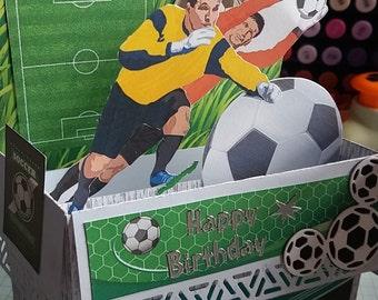 Football / soccer birthday card.