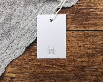 Letterpress Snowflake Gift Tags. Pack of 5 Gift Tags. Christmas Gift Tags. Letterpress. Festive.