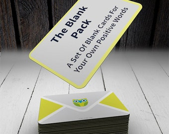The Blank Note Pack Customizable 20 Cards