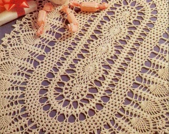 Free Crochet Patterns For Oval Tablecloths : Crochet tablecloth Etsy