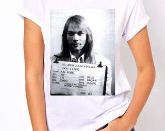 Axl Rose Mugshot shirt Guns N Roses shirt band shirt rock n roll shirt
