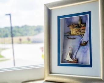 Sail and the Sea - 3D Photo Wall Art