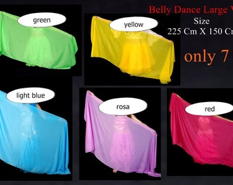 Handmade belly dance Veils large size veil available in many colors