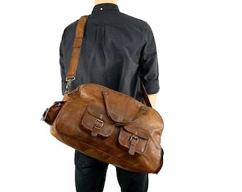 Gusti Leder 'Luca' Leather Travel Holdall
