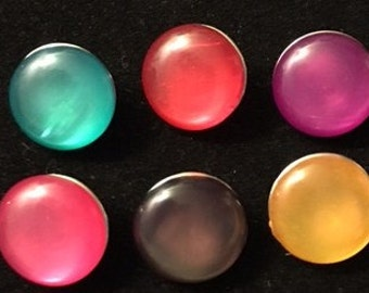Set of New Colored Snaps 20mm - Fits all your 18mm and 20mm Interchangeable Snap Jewelry