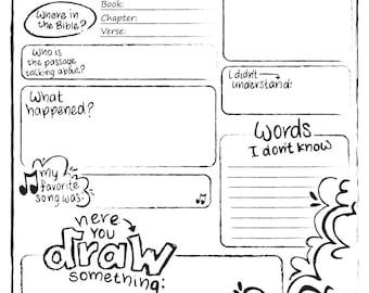 Bulliten Insert - Kids Sermon Notes Printable Church Edition