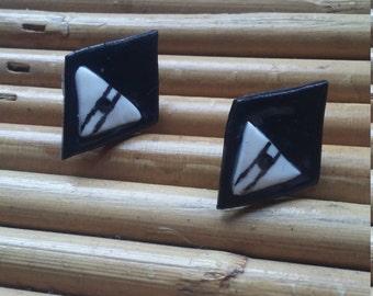 Diamond chips earrings