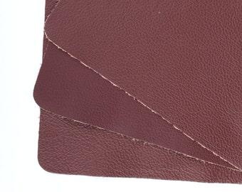 "Burnt Raspberry Scrap Leather 8.5"" x 6.5"" TD295"
