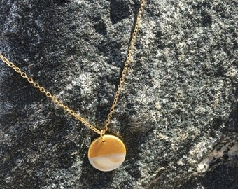 Circle Gold Pendant Necklace